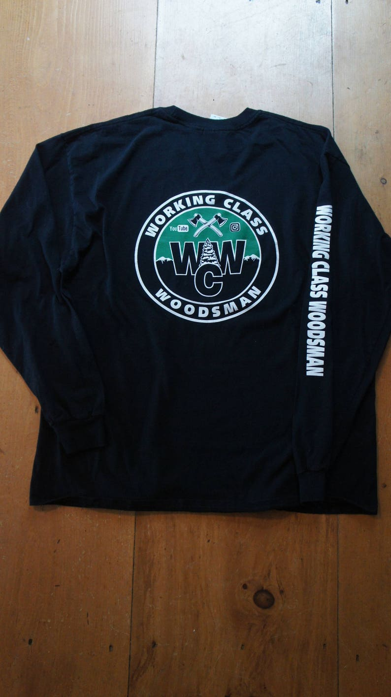 Working Class Woodsman Long sleeve T-shirt W.C.W. logo. /Arm image 0