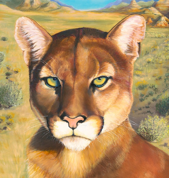 Fine Art Puma Painting