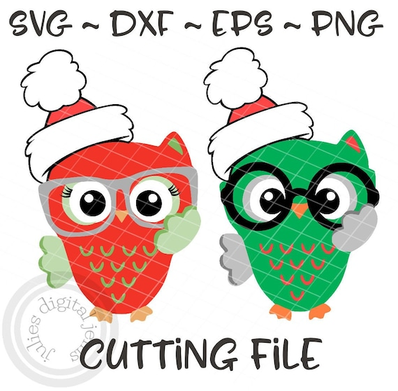 Christmas Owls Svg Eps Dxf Png Boy Owl Svg Girl Owl Svg Etsy