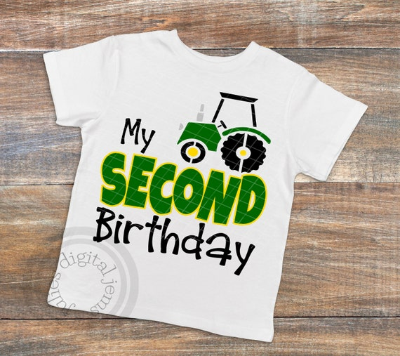Tractor Birthday SVG Shirt 2nd