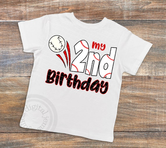 My 2nd Birthday SVG Second Baseball Tee
