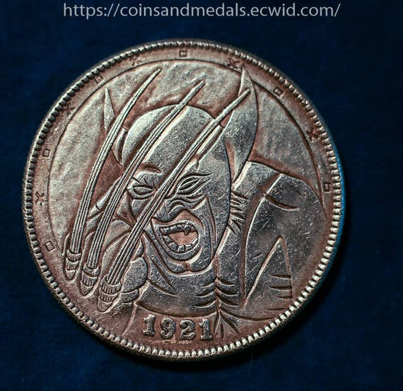 1851 Large Cent Skull Zombie Heads Fantasy Issue Novelty Coin