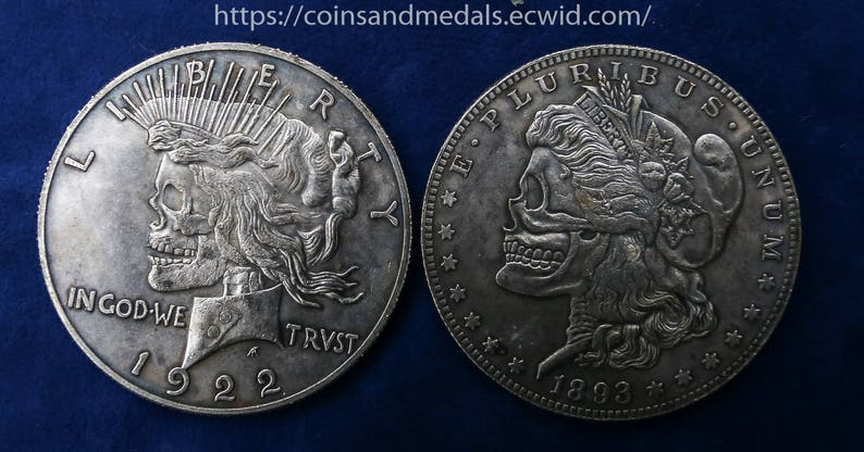 Double Hobo Skull Coin 1893-1922