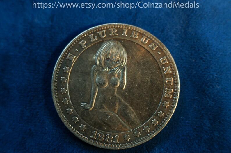 1881 cc Morgan Hobo Sexy Nude Girl Love coin