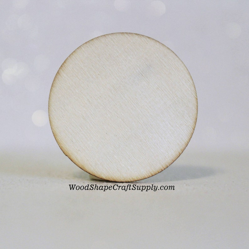 50 1 12 Inch Wood Circle Coin Blank Small Wooden Craft Circles For Wood Crafts Holiday Craft Supplies 15 Inch Wood Disc