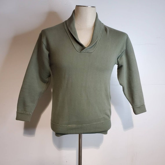Vintage 50s Hanes Wind Shield Sweatshirt with Shaw