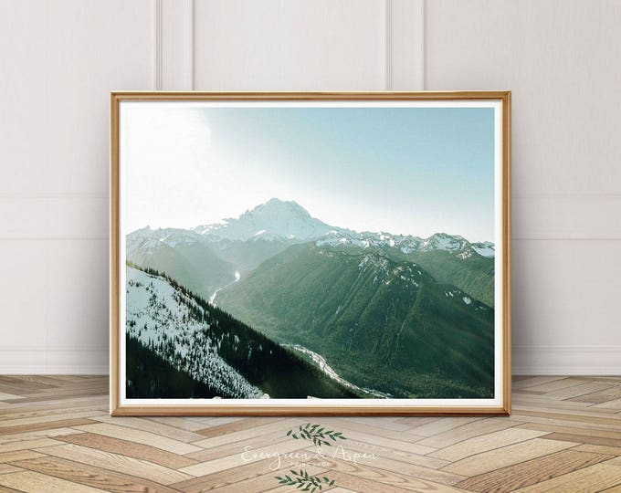 Featured listing image: Mountain Photography, Mountain Print, Forest Print, Nature Print, Nature Wall Art, Sky Art, Wilderness, Instant Download