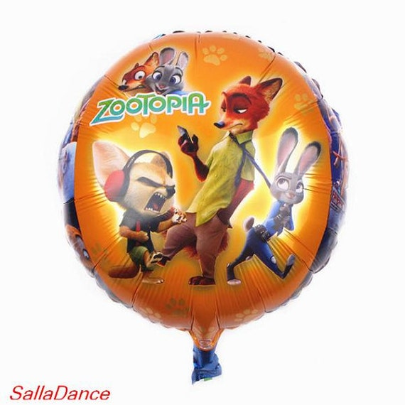 18 Inch Cartoon Animal City Zootopia Balloon Aluminum Round
