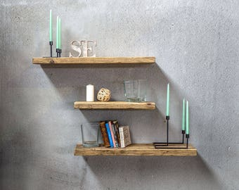 Reclaimed wood shelf in different resolutions | Bookshelf | Wood shelf