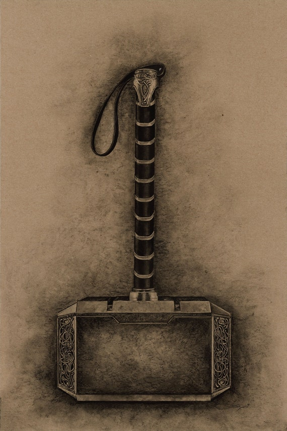 Mjolnir Thor S Hammer Etsy