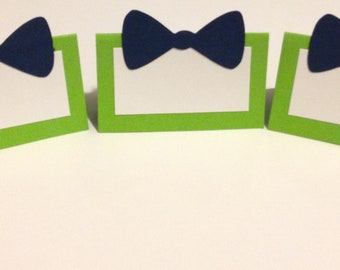 Bowtie Place Cards - 10 - Little Man Party Decorations - Bowtie Party Decor - Little Man Baby Shower - Little Man Birthday - Little Man