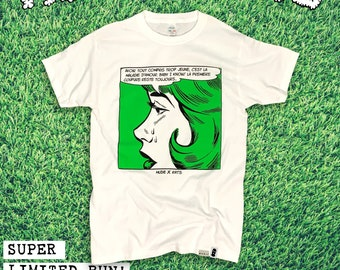 Maladie D'amour Unisex T-shirt | Mudie X Rats Collab Streetwear Apparel | Vintage Pin-up Retro Comics Style