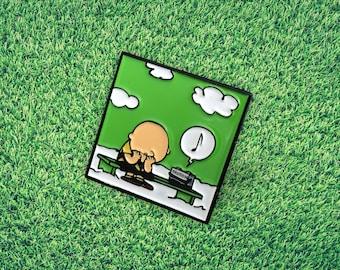 Sad Chuck Pin | Mudie X Rats Collab Soft Enamel Pin