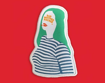 Bad Motherfucker Patch | Girl Power, Feminist Iron on, Sew on Woven Embroidery Patch