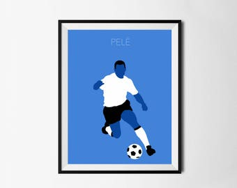 Pelé Sports Poster - Football, Football Poster, Soccer, Santos, Cosmos, Brazil, New York, Classic Collection