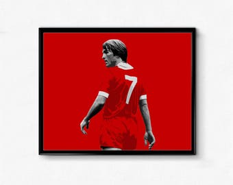 Kenny Dalglish Sports Poster - The King, Liverpool, Reds, Football, Soccer, LFC, Football Poster, Soccer Poster, Wall Art Decor