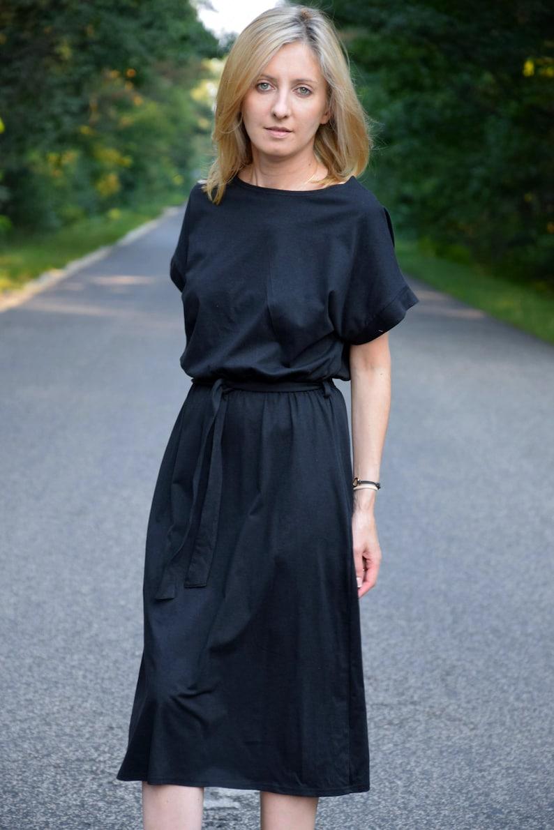 ceef7078ca7e MANILA Cotton midi dress black   party dress   summer
