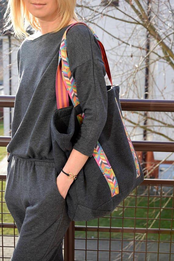 b169461912ab6 ROSA dresowa   bawełniana torba damska   torba na wakacje