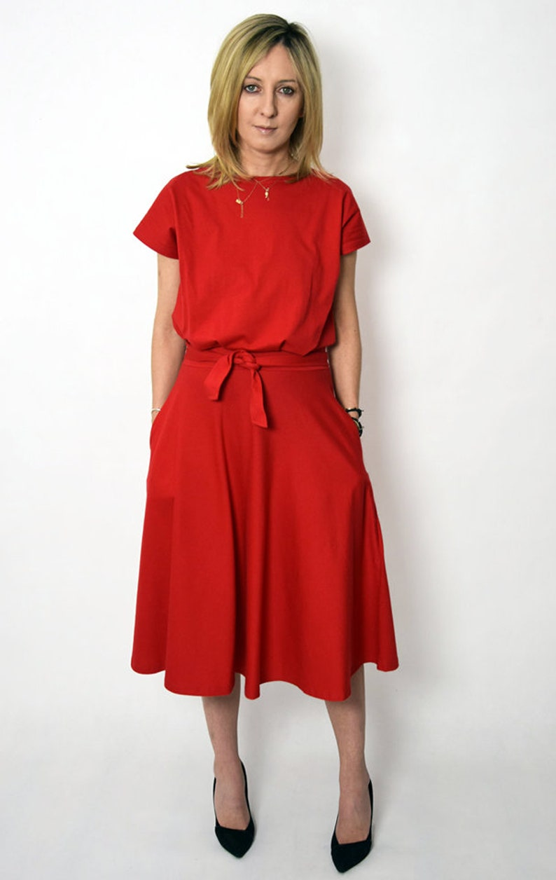 LUCY Midi Flared cotton dress form Poland  handmade dress  100/% cotton dress  vintage dress  spring  summer  made in Poland