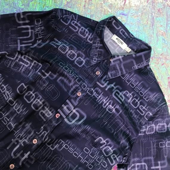 Moschino vintage blue shirt