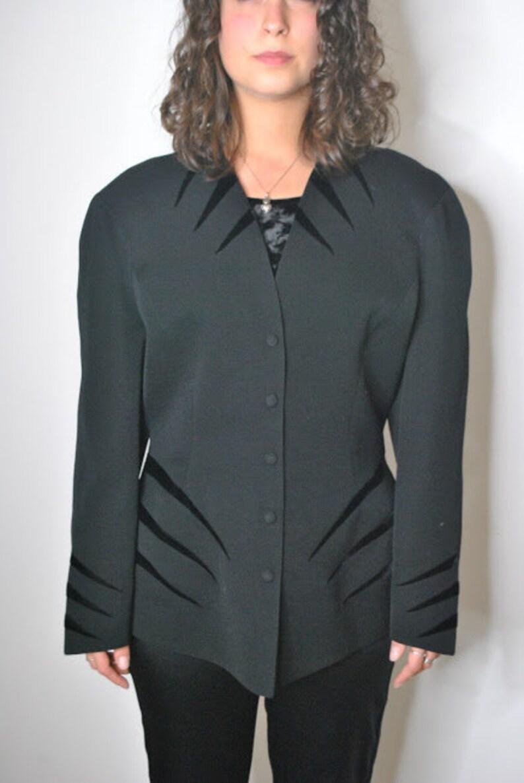 Vintage Thierry Mugler Black structured blazer