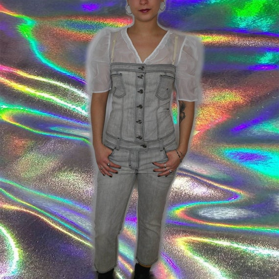 Galliano jeans overall deadstock catsuit