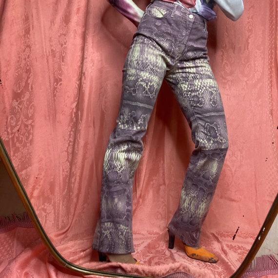 ROBERTO CAVALLI Just Cavalli snake print purple fl