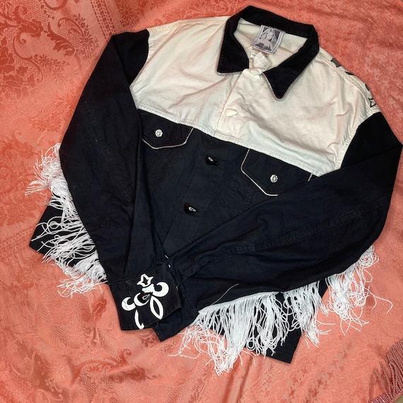 rare COWBOY vintage jacket fringe