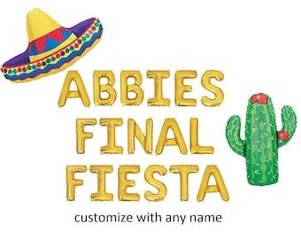 Final Fiesta Male Stripper Banner Mexico Bachelorette Penis /& Cactus Banner Custom Final Fiesta Bachelorette Party Penis Banner