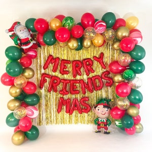 Christmas Balloon Garland Kit Christmas Party Decorations Etsy