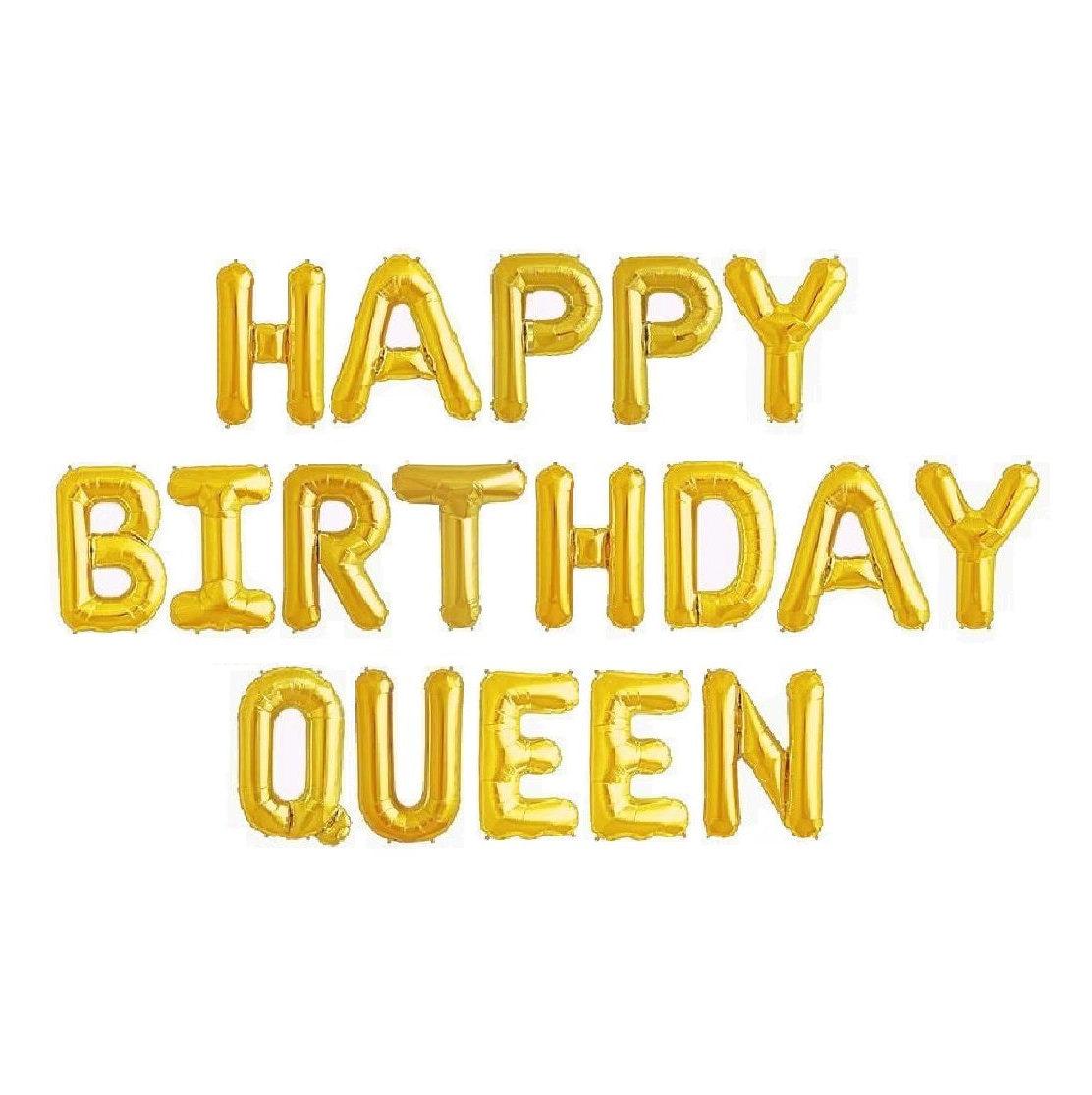 Birthday Queen Balloons Banner Balloon