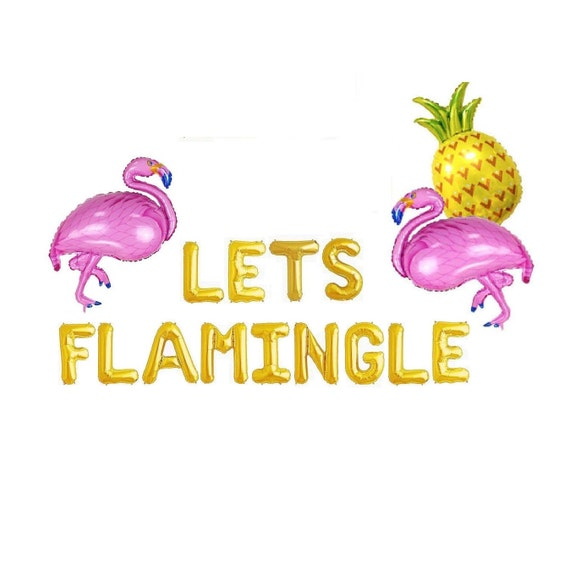 Flamingo Balloon Flamingo Party Decor Let/'s Flamingle Party Decor Tropical Party Decor Pineapple Party Bachelorette Party Balloon