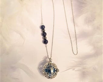 Tree of life pregnancy's Bola - beads semi precious Lapis Lazuli and Hematite