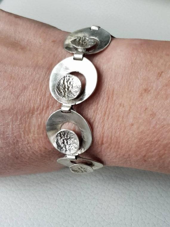 Silver bracelet brutalist 835