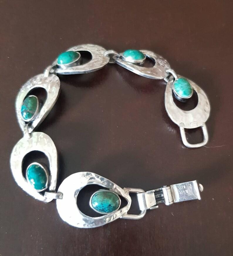 vintage silver perli germany bracelet