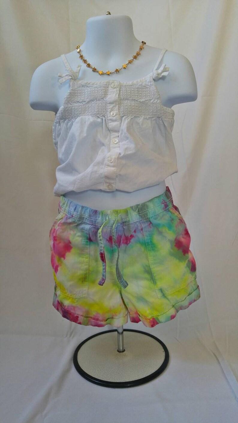 fb6ef2f8cf7eb Girls 6X Tie Dye Shorts. Tie dye kid, tie dye shorts, tye dye jean shorts,  gift for her, gift for kids girl, hippie clothes, tie dye denim