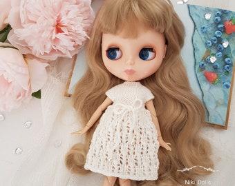 Blythe dress Knitted dress for Blythe Blythe doll clothes by NikiDollToys