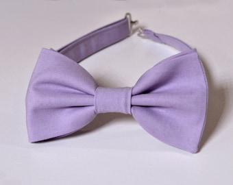 Kleidung & Accessoires Herren-accessoires Handmade Plain Mauve Mens Bow Tie And Pocket Square Set Wedding Bow Tie