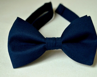 c8760e00ef05 Navy Bow Ties-Dark Blue Bow Ties For Men-Navy Blue Bow Tie-Kids bow Ties-Groomsmen  Bow Ties-Boys bow Tie-Clip Bow Tie-Baby Bow Tie