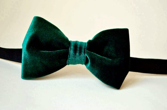 408ecb56f15c Green velvet bow tie emerald bow ties bow ties for   Etsy