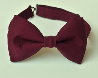Bordeux bow tie-burgundy bow tie-wine bow ties-Kids Bow Tie-Maroon Bow Tie-Adult Bow Tie-Groomsmen Bow Ties- Ring Bearer Bow Tie-Kid Bowtie