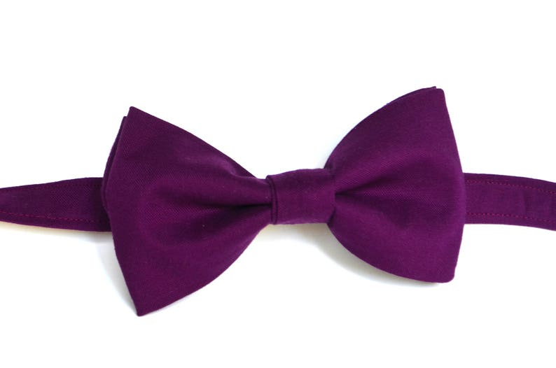 3ba0cb49eb92 Purple bow tie eggplant bow tie men's purple bow tie | Etsy
