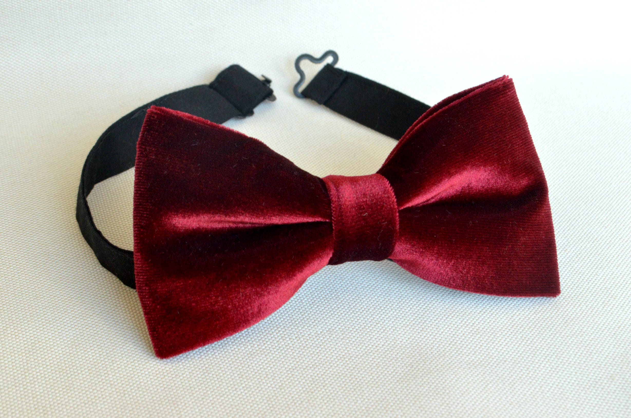 Burgundy velvet bow tie maroon bow ties men\'s bow tie   Etsy