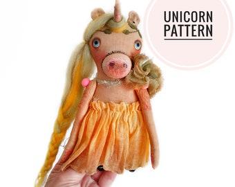 Unicorn doll - INSTANT DOWNLOAD E-pattern - Design by Tanya Kuznetsova