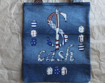 "6a49a69fe11 Denim Tote Bag ""Cash"", Garyusha Denim Bags Design, Denim 100%, Jeans Tote  Bag, Upcycled Denim Bag, Shopping Bag, Handmade Bag, Vintage Bag"