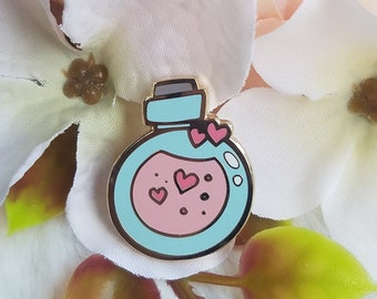 Kawaii Cute Love Potion Pin    Magic Potion, Magical, Witch, Witch Potion     Adorable Pastel Theme