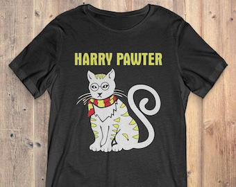 Funny Cat T-Shirt Gift: Harry Pawter