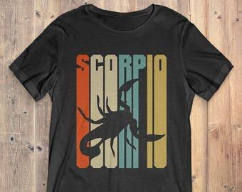 Scorpio Zodiac T-Shirt Gift: Vintage Scorpio