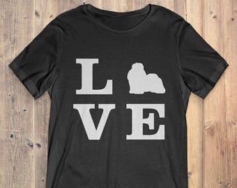 Shih Tzu Dog T-Shirt Gift: I Love Shih Tzu