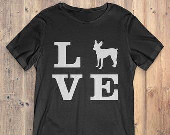 Toy Fox Terrier Dog T-Shirt Gift: I Love Toy Fox Terrier